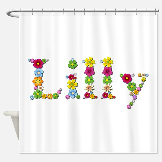 Lilly Bright Flowers Shower Curtain