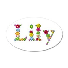 Lily Bright Flowers Wall Decal