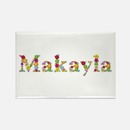 Makayla Bright Flowers Rectangle Magnet