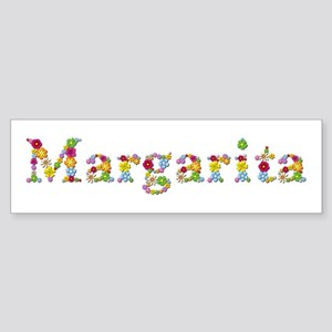 Margarita Bright Flowers Bumper Sticker
