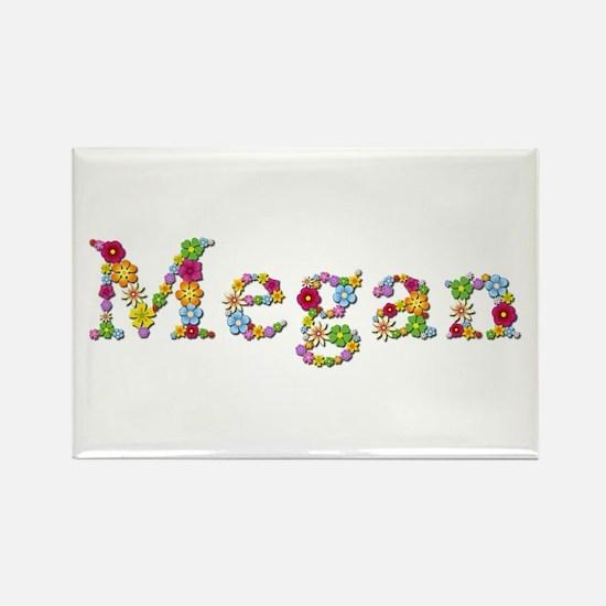 Megan Bright Flowers Rectangle Magnet