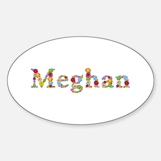 Meghan Bright Flowers Oval Decal