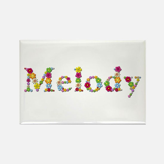Melody Bright Flowers Rectangle Magnet