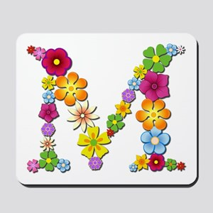 M Bright Flowers Mousepad