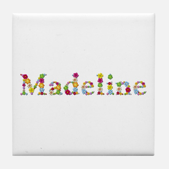 Madeline Bright Flowers Tile Coaster
