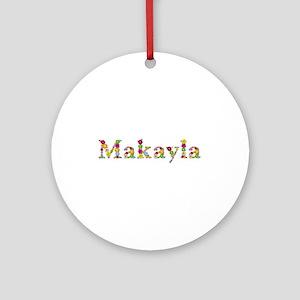Makayla Bright Flowers Round Ornament