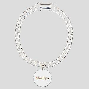 Marilyn Bright Flowers Charm Bracelet