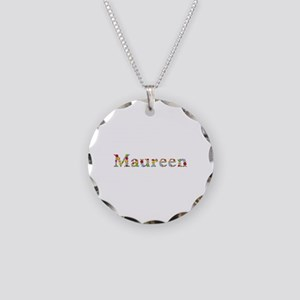 Maureen Bright Flowers Necklace Circle Charm