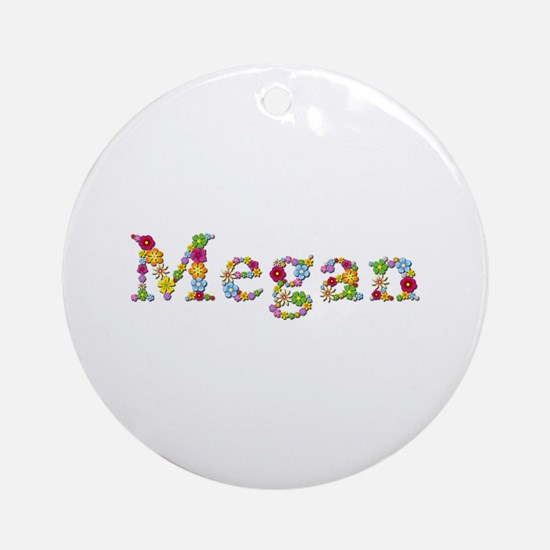 Megan Bright Flowers Round Ornament