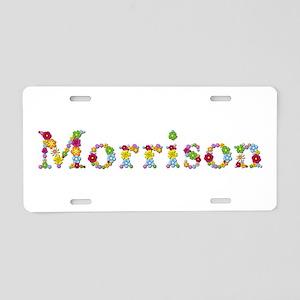 Morrison Bright Flowers Aluminum License Plate