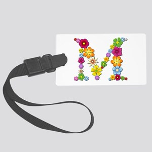 M Bright Flowers Large Luggage Tag