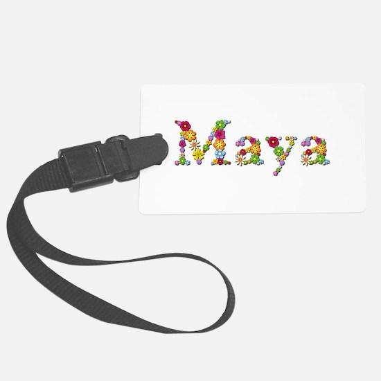 Maya Bright Flowers Luggage Tag