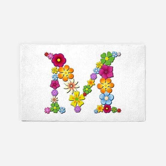 M Bright Flowers 3'x 5' Area Rug