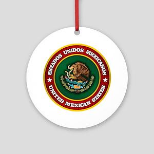 Mexico Medallion Round Ornament