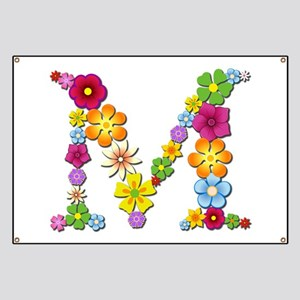 M Bright Flowers Banner