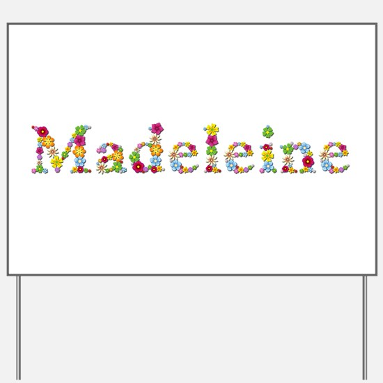 Madeleine Bright Flowers Yard Sign