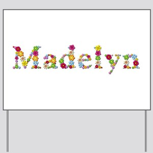 Madelyn Bright Flowers Yard Sign