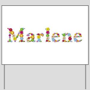 Marlene Bright Flowers Yard Sign