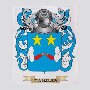 Tanzler Family Crest (Coat of Arms) Throw Blanket