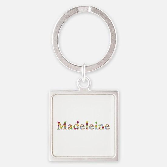 Madeleine Bright Flowers Square Keychain