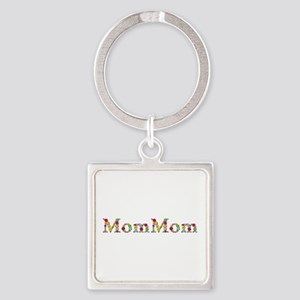 Mommom Bright Flowers Square Keychain