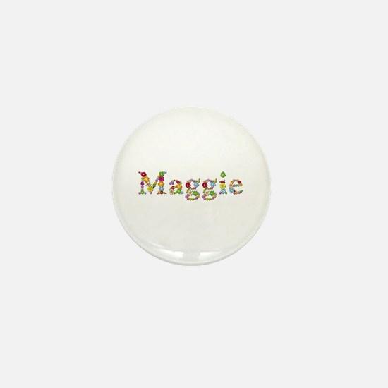 Maggie Bright Flowers Mini Button