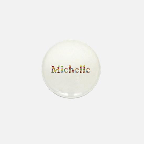 Michelle Bright Flowers Mini Button