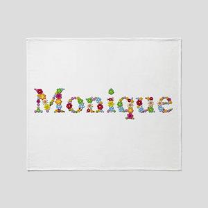Monique Bright Flowers Throw Blanket