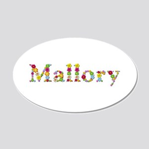 Mallory Bright Flowers 20x12 Oval Wall Decal
