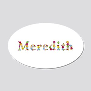 Meredith Bright Flowers 20x12 Oval Wall Decal