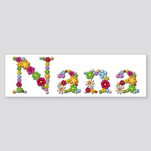 Nana Bright Flowers Bumper Sticker