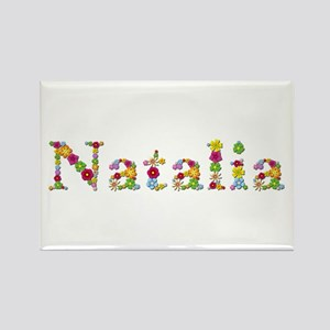 Natalia Bright Flowers Rectangle Magnet