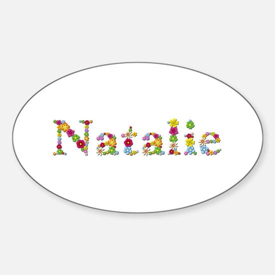 Natalie Bright Flowers Oval Decal