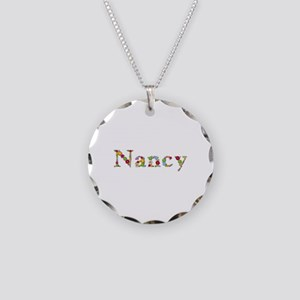 Nancy Bright Flowers Necklace Circle Charm