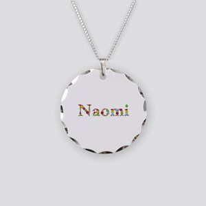 Naomi Bright Flowers Necklace Circle Charm