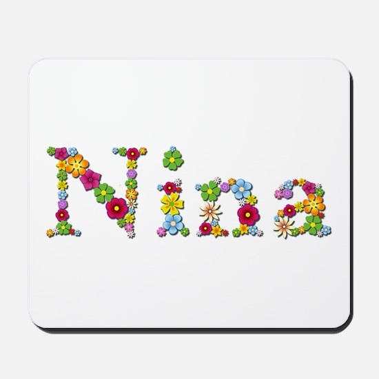Nina Bright Flowers Mousepad