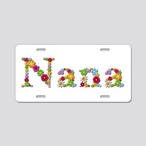 Nana Bright Flowers Aluminum License Plate
