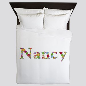 Nancy Bright Flowers Queen Duvet