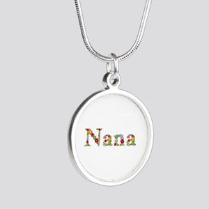 Nana Bright Flowers Silver Round Necklace
