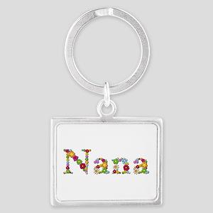 Nana Bright Flowers Landscape Keychain