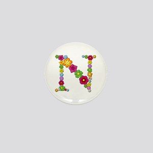 N Bright Flowers Mini Button