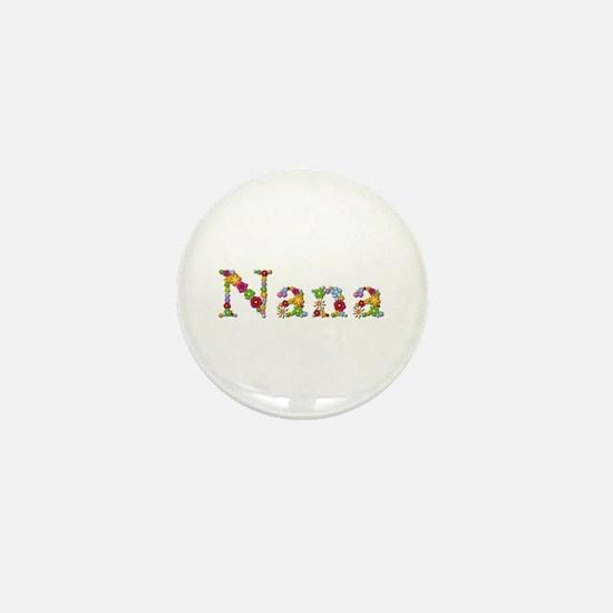 Nana Bright Flowers Mini Button