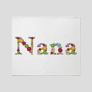 Nana Bright Flowers Throw Blanket