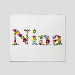 Nina Bright Flowers Throw Blanket