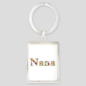 Nana Bright Flowers Portrait Keychain