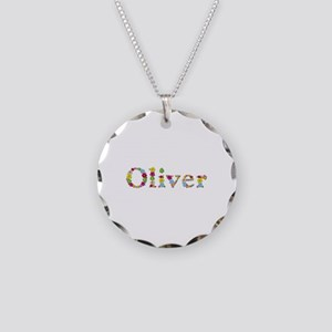 Oliver Bright Flowers Necklace Circle Charm