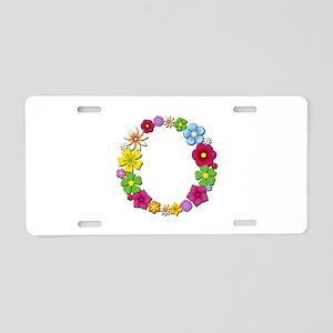 O Bright Flowers Aluminum License Plate