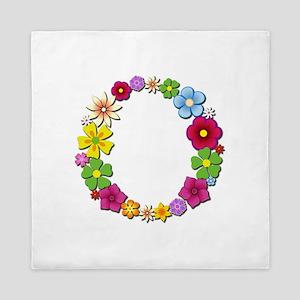 O Bright Flowers Queen Duvet