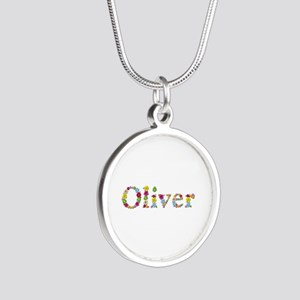 Oliver Bright Flowers Silver Round Necklace