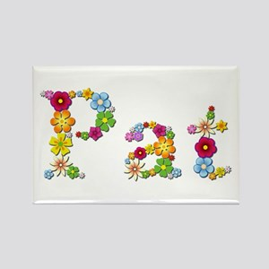 Pat Bright Flowers Rectangle Magnet